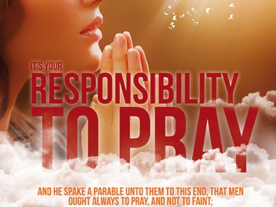 It's Your Responsibility to Pray Front Book Cover